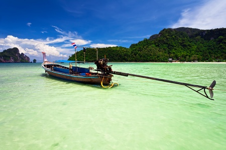 Boat in the tropical sea. Phi Phi island. Thailand photo