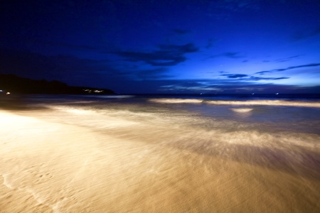 Night at the tropical beach. Phuket. Thailand photo