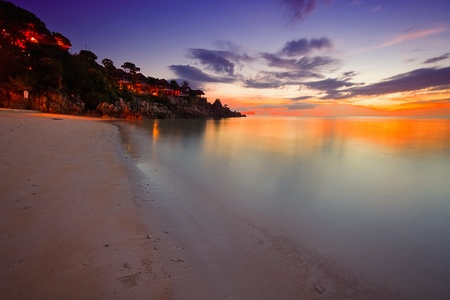 Tropical colorful sunset. Thailand  photo
