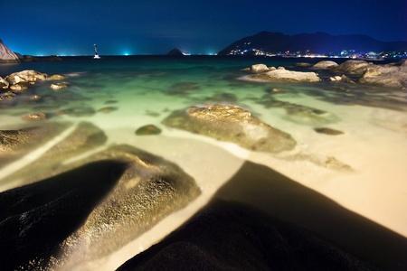 Tropical night at the beach.Thailand photo