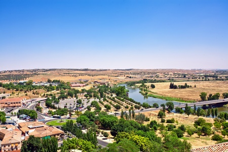 toledo town: Beautiful View on Toledo old town. Spain  Stock Photo