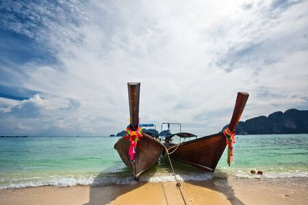 Boats in the tropical sea. Phi Phi island. Thailand Stock Photo - 9880977