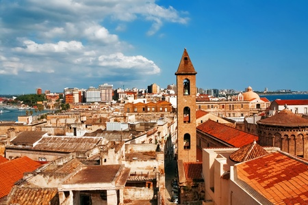 View on Naples old town under blue sky. Italy photo