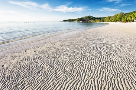 Exotic tropical beach under blue sky. Thailand Stock Photo - 10420831