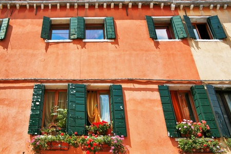 The architecture of the old Venice. Italy photo