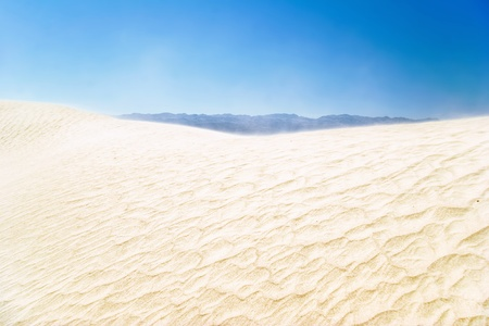 White sand dunes under blue sky, Death Valley, California  Stock Photo - 10694297