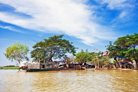 The village on the water. Tonle sap lake. Cambodia