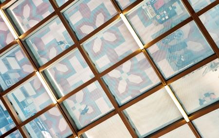 Fragment of a modern airport futuristic interior  photo