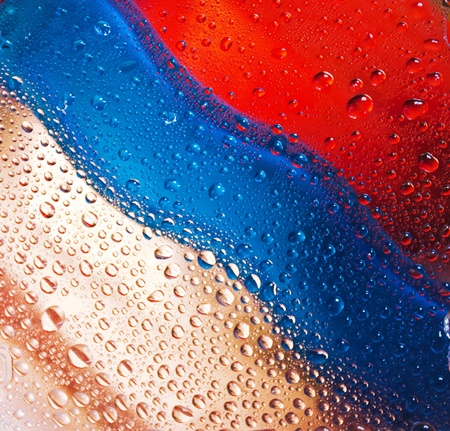 Abstract color water drops background photo