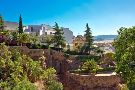 View on canyon and old city of Andalusia in Spain