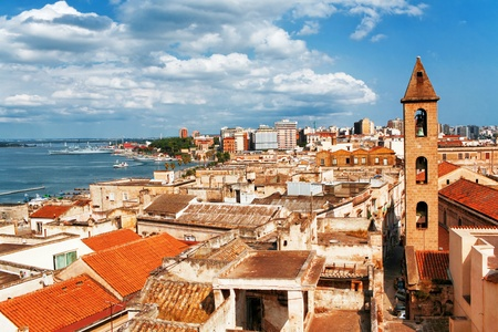 View on Naples old town under blue sky  Italy photo