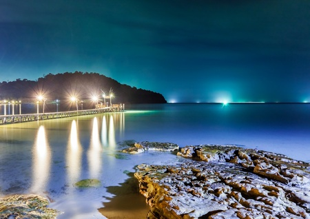 Tropical night at the beach.Thailand photo