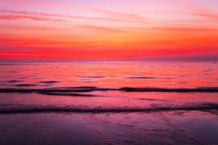 sunset beach: Tropical beach at beautiful sunset  Nature background  Stock Photo