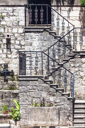 Stairs in the old town  Kotor  Montenegro photo