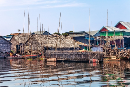 The village on the water  Tonle sap lake  Cambodia