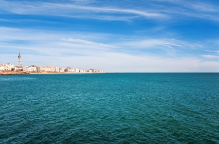 tarifa: Beautiful view from  beach to ocean, Spain, Tarifa