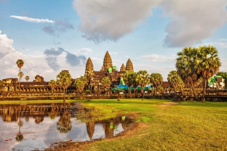 Angkor Wat in sunset light at Siem Reap  Cambodia Stock Photo