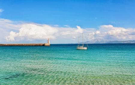 Beautiful view from beach to ocean, Spain, Tarifa