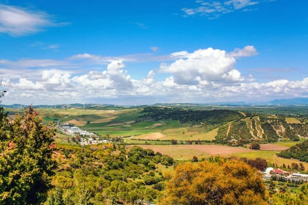 View on fields of Andalusia in Spain  photo