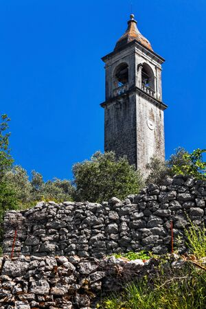 view on old ortodox church at moutains, Montenegro photo