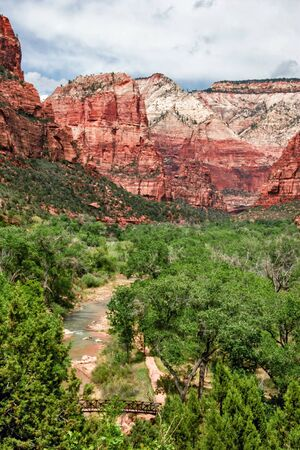 Beautiful river in Zion canyon  Utah  USA   photo