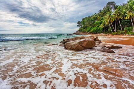tropical beach under gloomy sky  Thailand Stock Photo - 15057853
