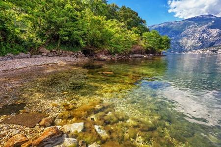 beach with sea and mountain views   Montenegro Stock Photo - 15057943