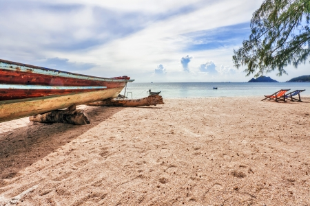tropical beach under gloomy sky  Thailand Stock Photo - 15496247