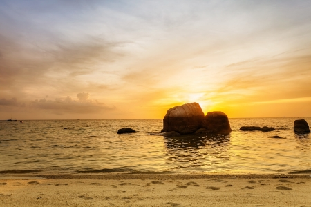 Tropical beach at beautiful sunset  Nature background Stock Photo - 15505838