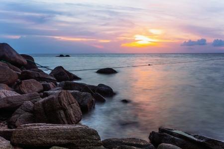 Tropical beach at beautiful sunset  Nature background Stock Photo - 15505837