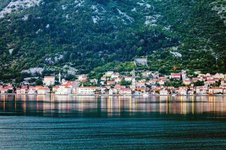 The old house with view on the sea and mountains  Montenegro Stock Photo - 15512711