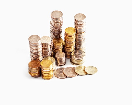Abstract background with silver and gold colors coins Stock Photo - 15399940