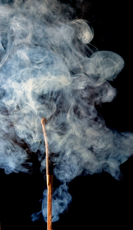 Match with the fire and smoke Stock Photo - 15399942