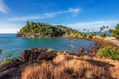 Beautiful tropical island with  sea view, clean water   blue sky  Nature background Stock Photo - 15443918