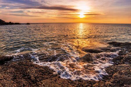 Tropical beach at beautiful sunset  Nature background Stock Photo - 15443919