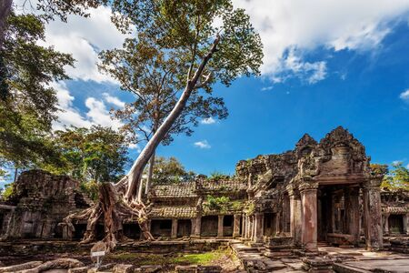 Ancient buddhist khmer temple in Angkor Wat complex, Cambodia Stock Photo - 15441105