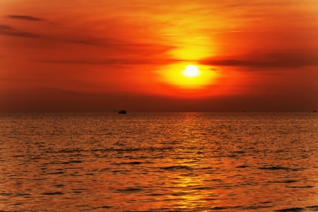 Tropical sea at beautiful sunset  Nature background  Stock Photo - 15443912