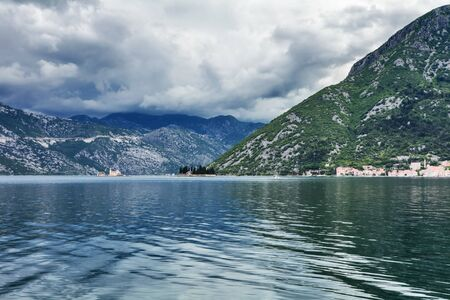 sea and mountains in bad rainy weather  Montenegro Stock Photo - 15829712
