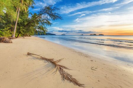 Tropical beach at beautiful sunset  Nature background Stock Photo - 16063903