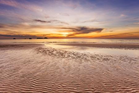 Tropical beach at beautiful sunset  Nature background Stock Photo - 16063905