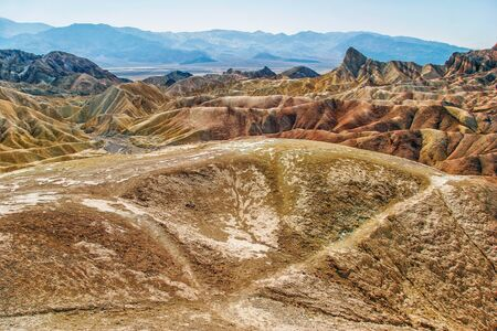 Lifeless landscape of the Death Valley  California  USA Stock Photo - 16217078