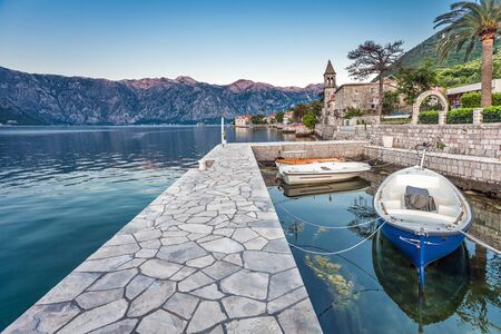 A small bay with boats. Kotor. Montenegro Stock Photo - 16217088