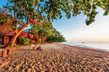 Tropical beach at beautiful sunset  Nature background Stock Photo - 16451800
