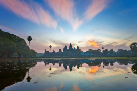 Angkor Wat sunrise at Siem Reap. Cambodia  Stock Photo - 16451782