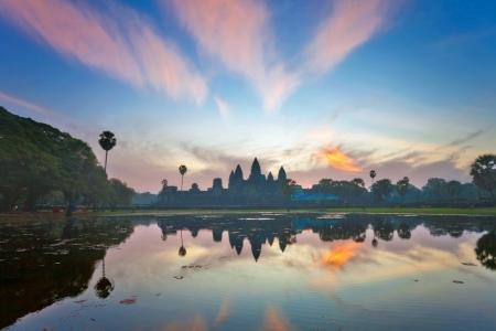 Angkor Wat sunrise at Siem Reap. Cambodia Stock Photo - 16451782