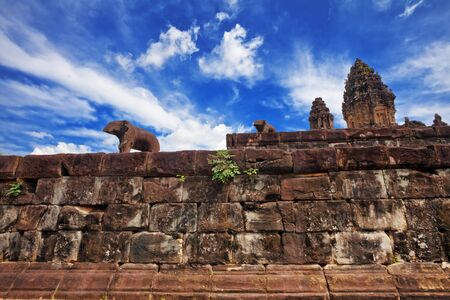 Ancient buddhist khmer temple in Angkor Wat complex, Cambodia Stock Photo - 16451792