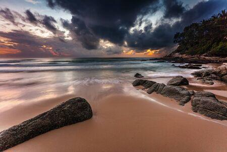 Tropical beach at beautiful sunset  Nature background Stock Photo - 16584718
