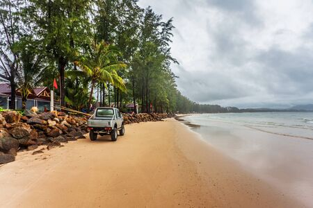 tropical beach under gloomy sky  Thailand Stock Photo - 16584722