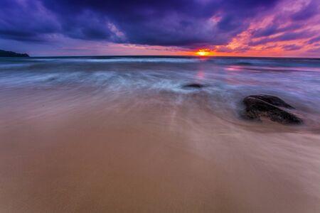 Tropical beach at beautiful sunset  Nature background Stock Photo - 16584716