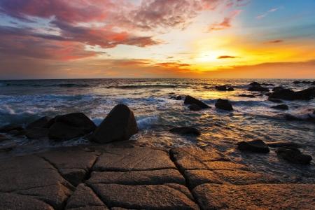 Tropical beach at beautiful sunset  Nature background Stock Photo - 16584721